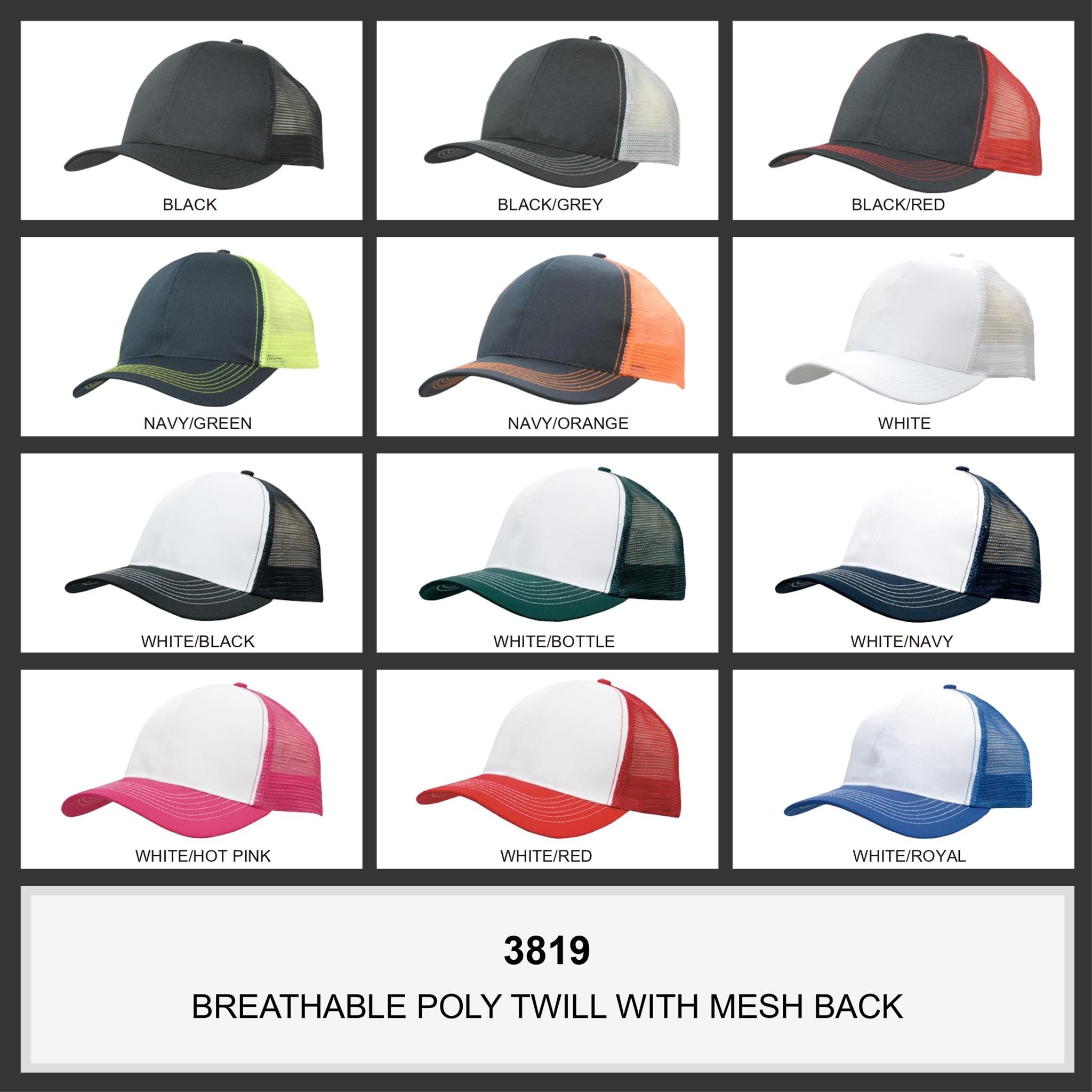 Breathable Poly Twill With Mesh Back (3819) 2 | | Promotion Wear