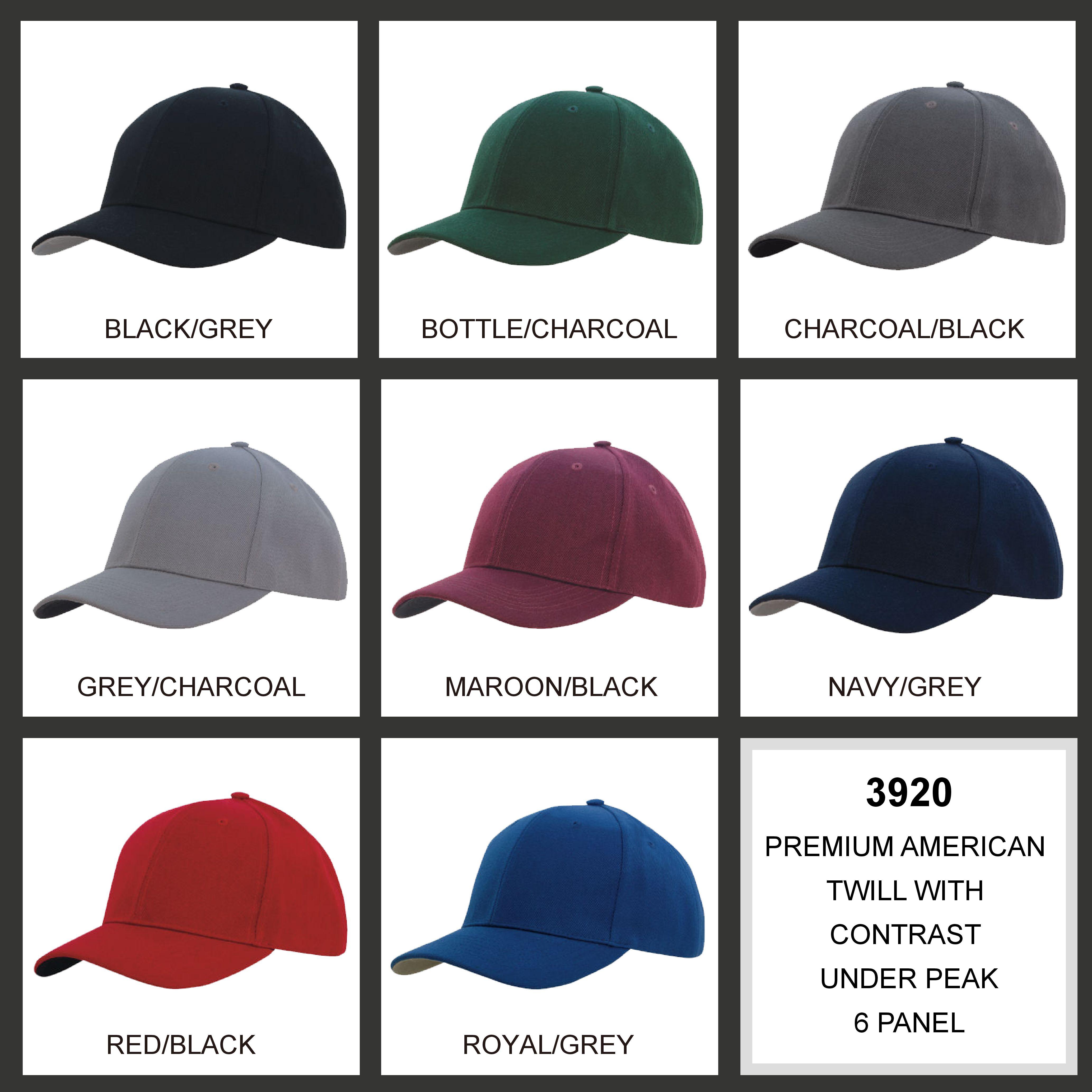 Premium American Twill with Contrast Peak Under (3920) 2 | | Promotion Wear