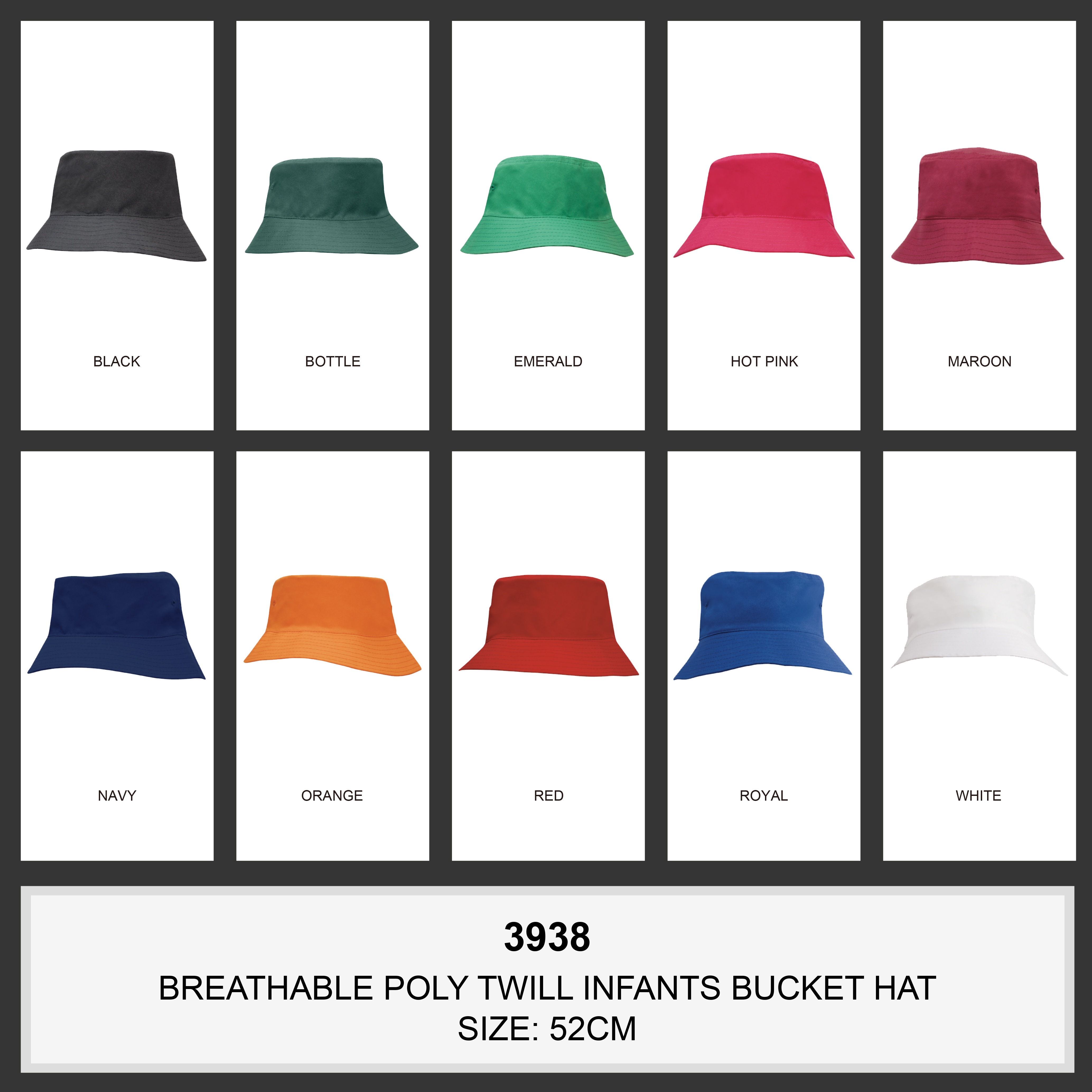 Breathable Poly Twill Infants Bucket Hat(3938) 2 | | Promotion Wear