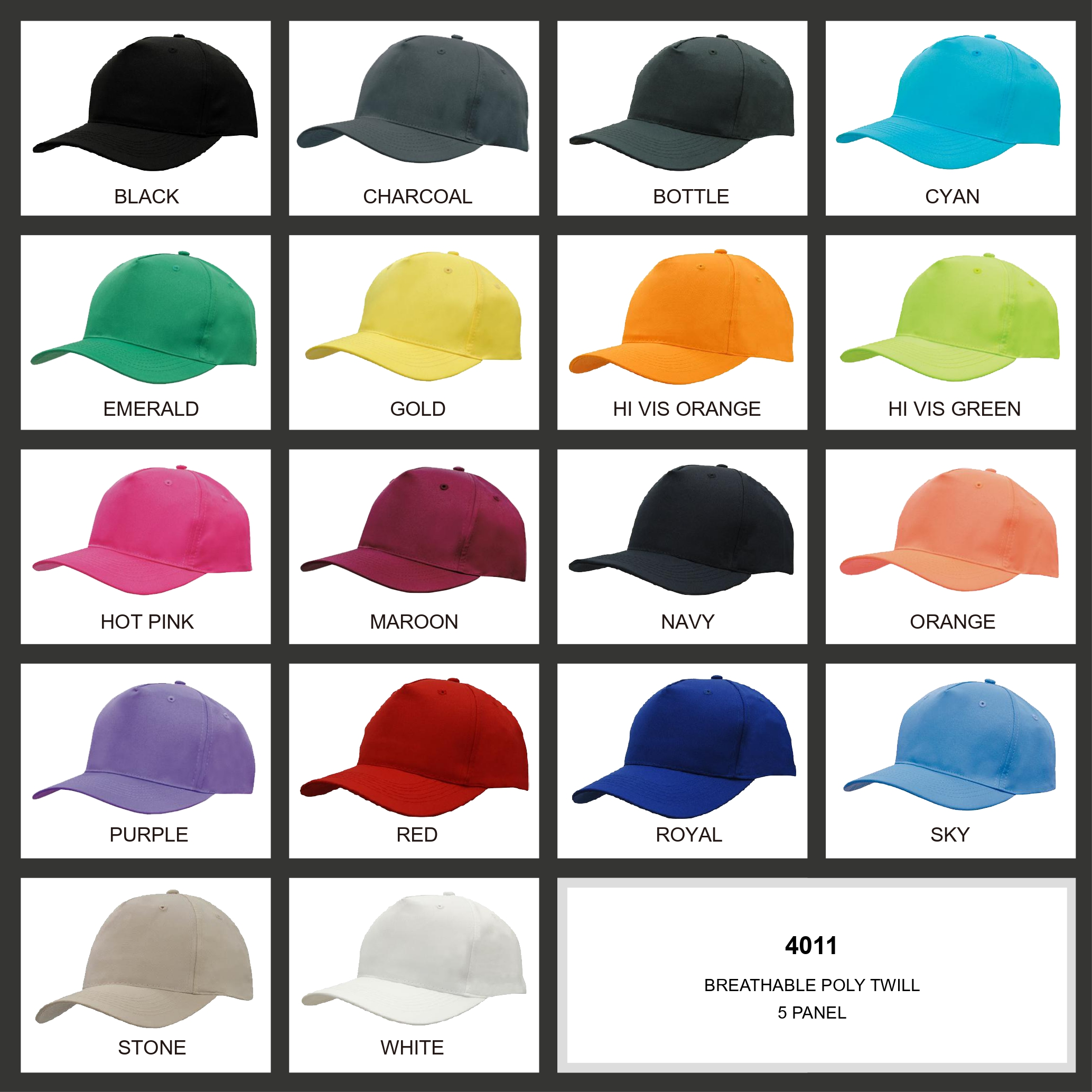 Breathable Poly Twill Cap (4011) 2 | | Promotion Wear