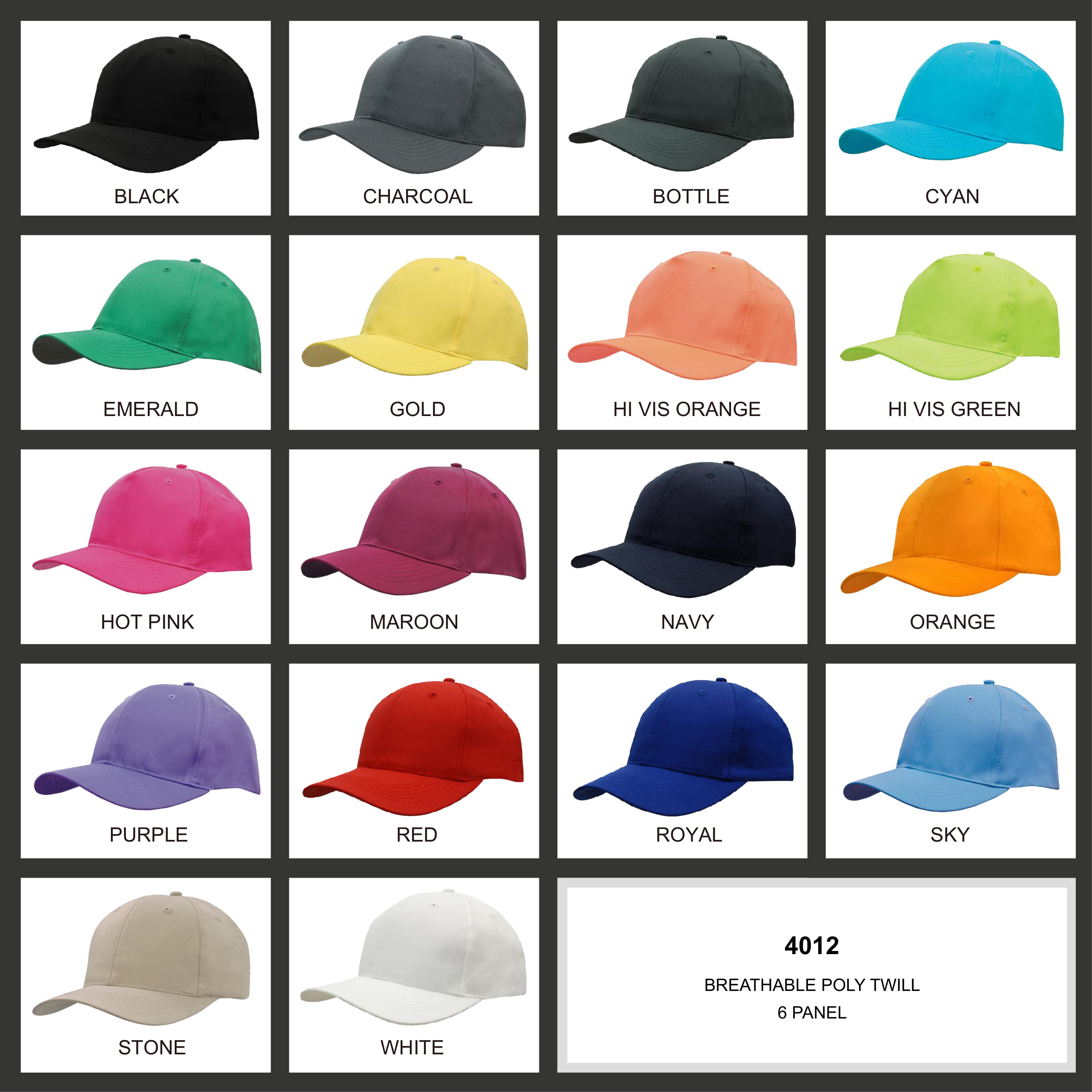 Breathable Poly Twill Cap (4012) 2 | | Promotion Wear