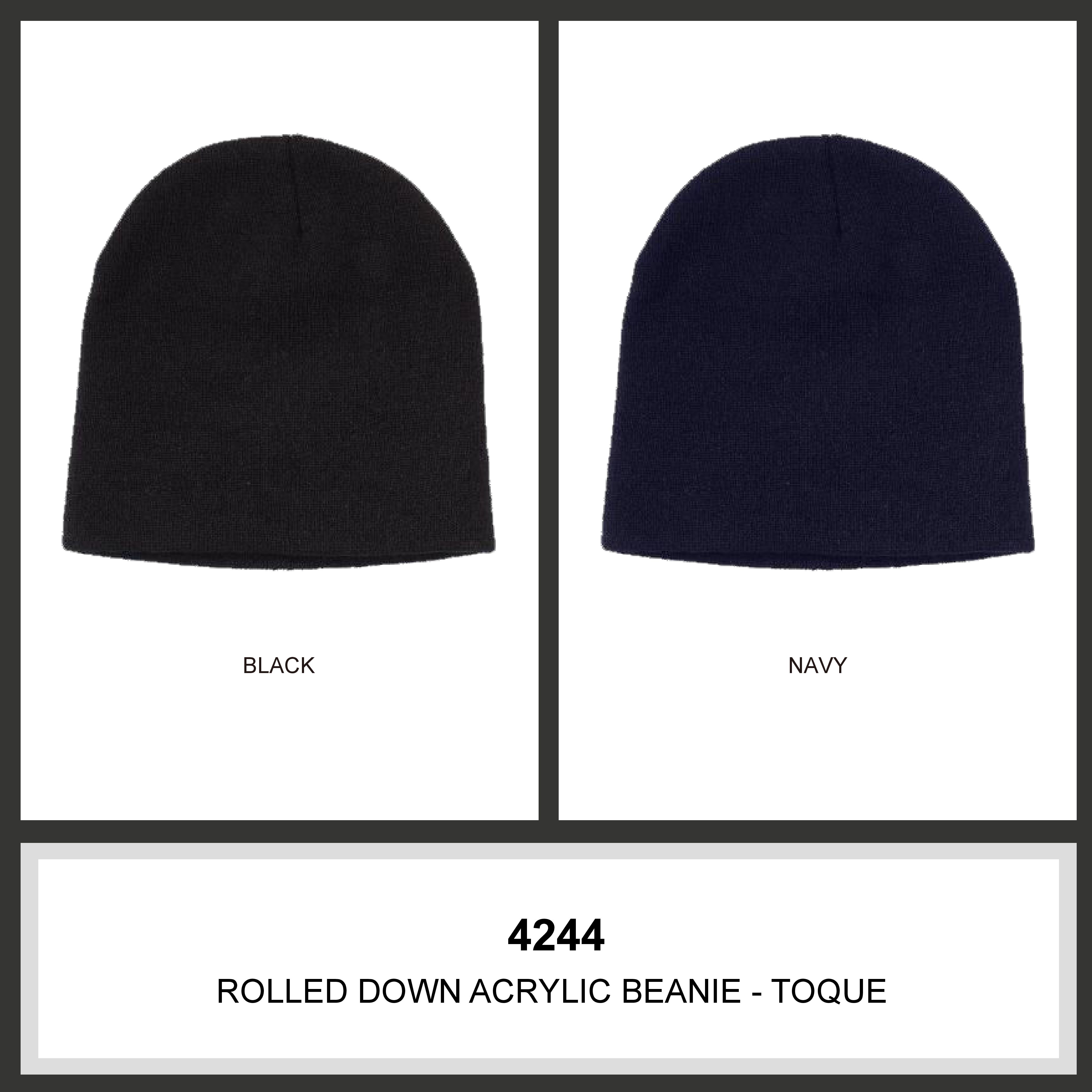 ee08fb443 Rolled Down Acrylic Beanie - Toque