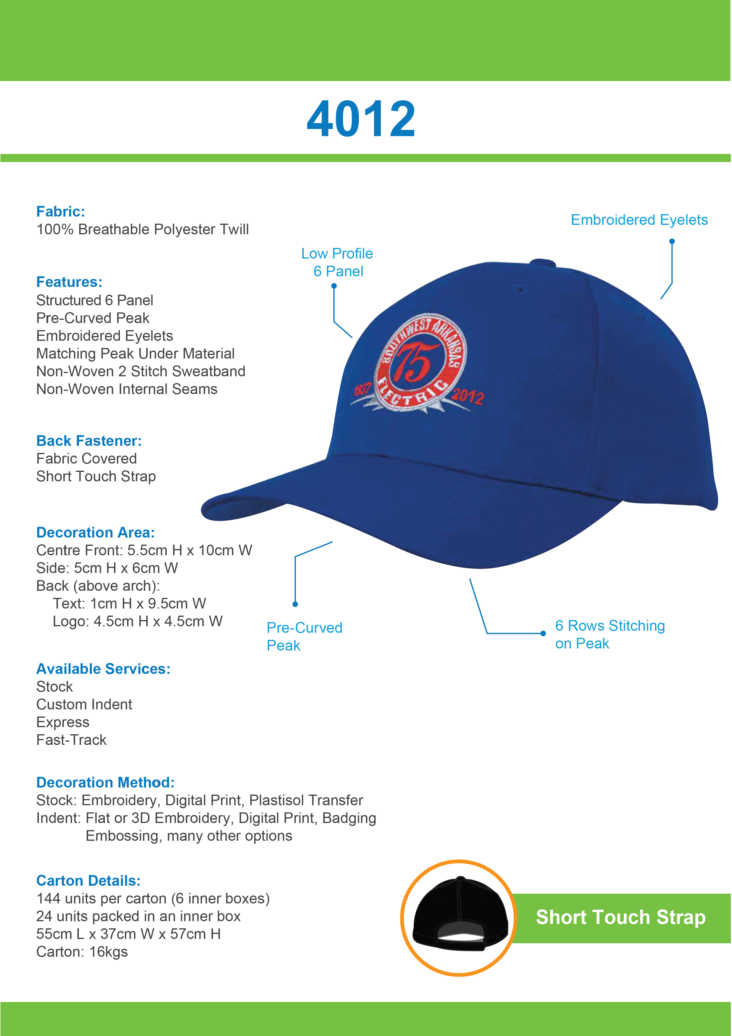 Breathable Poly Twill Cap (4012) 1 | | Promotion Wear